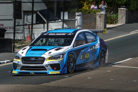 The purpose-built 600 bhp, 2.0-litre turbocharged 2016 Subaru WRX STI Time Attack car has a top speed of 180 mph (289.68 km/h) and weighs 1,175 kg. The model is a joint development of Subaru of America, Inc. and Prodrive, with technical assistance provided by Subaru Tecnica International (STI).
