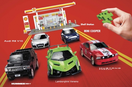 These 3-D puzzle model cars are available at $8.95 with every $60 gross purchase of Shell V-Power Nitro+, and $12.95 with every $60 gross purchase of Shell FuelSave fuels. These exclusive car models are pieced together like a 3D jigsaw puzzle, and are made up of over sixty individual pieces — perfect for spending time with the children or to just unwind from work.