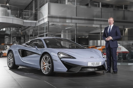 In early 2016, a second shift was introduced into the McLaren Production Centre to cater for the increased volume thanks to the introduction of the Sports Series family, today comprising the 540C, 570S and 570GT. This took capacity at the Production Centre from 10 cars per day to 20 cars per day. 2016 also marked the announcement of the company's third year of profitability in the first five years it has been producing cars — unprecedented in the automotive industry. McLaren is also on target to almost double its sales this year  compared to 2015, from 1,654 cars last year to over 3,000 cars in 2016, of which over 90 percent exported. This volume increase is thanks, in large part, to the ramp up in production and success of the Sports Series models.