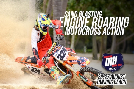 The Singapore MX Beach Race 2017 features various race categories catering to riders of varied level of experience and skills, including categories for novice, intermediate, expert, veteran, as well as categories for kids, ladies, and youth.Interested riders can find out more information on all race categories and requirements on the official registration website: www.singaporemxbeachrace.com/signup.