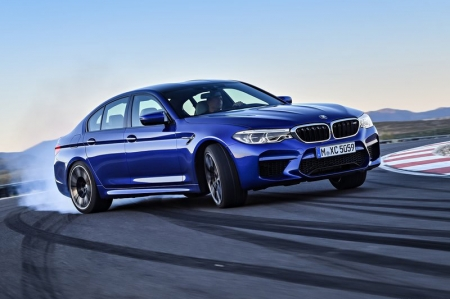 Power comes courtesy of a 4.4-litre bi-turbo V8 engine derived from the outgoing M5, but revised to feature newly developed turbochargers, ultra-efficient charge air cooling and increased fuel injection pressure, increasing power to 600 bhp and 750 Nm of torque, up from the F10-chassis M5's 560 bhp and 678 Nm. The century sprint takes just 3.4 seconds, all the way to an electronically limited top speed of 250kmh. With the optional M Driver's Package, however, the fun continues till the speedometer touches 305kmh.