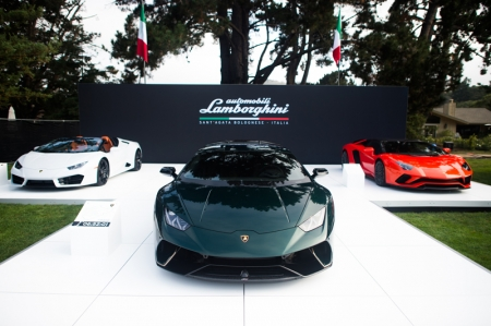 The trio of special edition cars were revealed to showcase Lamborghini's Ad Personam bespoke program, which allows customers to choose from an infinite combination of colours and materials, providing them with the opportunity to create vehicles with truly unique characteristics.