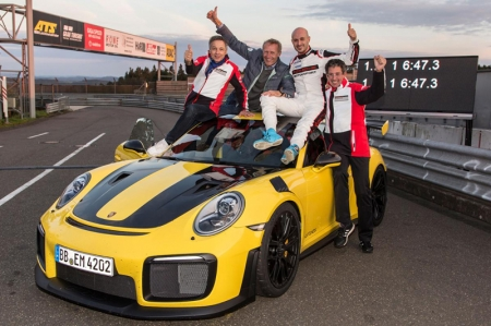 The record was not a one-hit wonder either, as another GT2 RS piloted by Lars Kern and Nick Tandy was able to set multiple record-breaking laps before the ultimate final record time was set. It was Kern, a Porsche test driver by trade and a passionate racer, who accomplished the 6:47.3 record lap time with an average speed of 184.11 km/h.