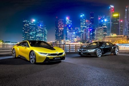 The BMW i8 Protonic Frozen Yellow Edition and the BMW i8 Frozen Black Edition are now available for viewing at Performance Motors' showroom. Both are priced at $603,800 with COE.
