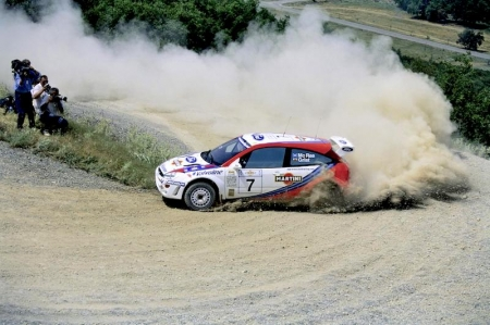 McRae was the youngest and also the first British driver to win the World Rally Championship Drivers' Title in 1995, making him a household name. Four years later, McRae joined Ford, who also unveiled a new car for the '99 season — the Focus WRC. Tragically, McRae died in a helicopter accident in 2007.