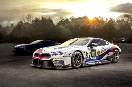 "In the second round of the FIA World Endurance Championship (WEC) 2018, BMW will be fielding two BMW M8 GTEs. These racing cars already demonstrated their potential at the season opener in Spa-Francorchamps, Belgium, and the US-American IMSA WeatherTech SportsCar Championship. This will now be followed by the debut of the production model; drive and suspension will be based as close as possible to the M8 GTE. On that note, motor sport expertise is concentrated in particular in the new M850i xDrive Coupe, which BMW promises offers outstanding dynamic handling characteristics; it gets with it a new V8 engine, intelligent four-wheel drive, controlled rear axle differential lock, Integral Active Steering, adaptive M suspension technology Professional featuring Active Roll Stabilization and 20-inch light alloy wheels boasting high-performance tyres. ""There isn't a better setting for the world premiere of the new BMW 8 Series Coupe than the 24-hour race at Le Mans,"" says Klaus Fröhlich, board member of the BMW AG, Development. ""The race is a pure demonstration of passion, dynamics and long-distance capability. These characteristics define our new sports car in a special way."""