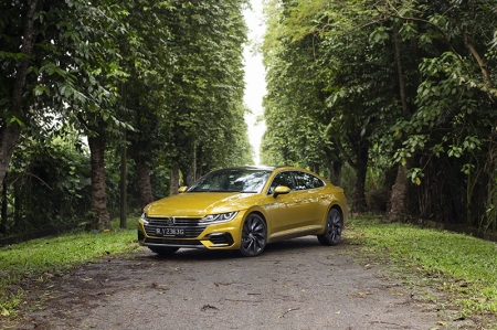At first glance, the Arteon appears to be a replacement for the Passat CC, and you'd be forgiven for thinking that. However, unlike the Passat which was positioned as a compact executive model (fun fact — 'CC' was an acronym for Comfort Coupe!), the Arteon is positioned as a luxury grand tourer and is Volkswagen's current flagship model.