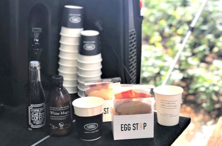 Office workers will be treated to a mix of cold brews and hot coffee by Strangers' Reunion's award-winning baristas, together with freshly-made turkey bacon and cheese sandwiches by Egg Stop.