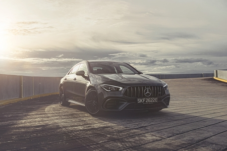 """This then, has the all-singing, all-dancing full-blooded AMG powerplant for the family of Mercedes cars that bear the letter 'A'; A-Class, CLA and GLA.    The 45 series of AMG cars is the entry point to what some might consider as a 'proper' AMG as the engines come from a """"one-man, one-engine"""" production line where the finished power unit bears a plaque with the name and signature of the technician who put the mechanical masterpiece together. My compliments then, to Alexander Kasarez who built a fine motor for our test car. In this instance however, it is technically a """"one-woman, one-engine"""" production. Here's to Girl Power!"""