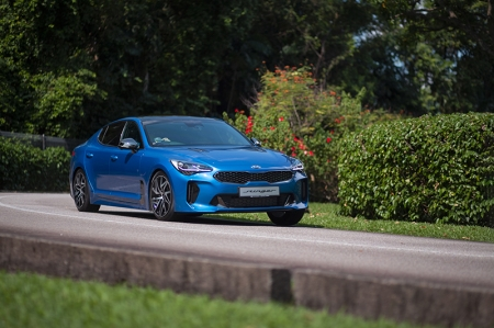 So, any drivetrain differences?   Unfortunately, no. Power output stays the same, with 244 bhp and 353 Nm of torque from the 2.0-litre turbocharged 4-pot. This means a 6 second century sprint, up to a 240km/h top speed.   The lack of drivetrain updates isn't necessarily a bad thing, considering how well it already drives. Its Nürburgring-developed chassis is nicely balanced between performance and comfort, despite the fixed dampers (Stinger GT gets electronically adjustable units). What's lovely is how the suspension absorbs mid-corner bumps, ensuring that the chassis stays planted with no nasty surprises.