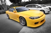 Front view. Pretty Silvia still a gorgeous car to behold.