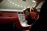 Interior wise, the styling of the Crossfire is simple yet functional with the cabin large enough to accommodate two adults with generous head and leg room. The dashboard detailing, steering wheel spokes, door sill plates and fitment of leather as standard gives the car an upmarket appearance though the speaker grille rings and instrument surrounds that are enhanced with a satin silver finish does feel a bit cheap and tacky, a chrome or brushed aluminium surface would have been a much better choice.