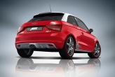 "All versions of the ABT A1 are real eye-catchers: the bright red KLECKS, as seen above (literally ""splash""), with its casual splashes of colour stands for the urban lifestyle in the A1."