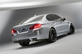 The concept M5 is based on the current F10 5-Series with a modestly more aggressive look. The suspension has been updated too to handle the extra power from the new V8 engine. Also, we are hoping that those trick-looking black wheels will make their way to the final production.