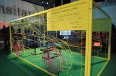These components are suspended within a 3D wireframe box, creating a life size wireframe representation of the car that as well as fitting together, can also be deconstructed to form individual stand alone pieces of art. Benedict has played a central role in creating the wireframe concept for Land Rover, advising on the creation of the sculptures, which have been showcased in cities worldwide.