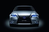 The LF-Gh features several new designs, such as the spindle-shaped grille that projects a resolute look, while also contributing to efficient aerodynamics and radiator and brake duct operation may eventually find their way onto production models. The concept also demonstrates how common features such as door mirrors and handles can make the car look sleeker and improve aerodynamics.