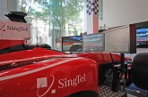 """Providing an unprecedented immersive race experience, the simulators are the closest fans can get to driving a real Formula One™ race car. With this debut, Singaporeans will also be the first in the world to try the simulators at the upcoming SingTel Formula One™ roadshows."""