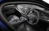 The cabin is familiar if you're already acquainted with the 5 Series. Leather and robust materials are used on the overall sophisticated, but not exactly inspiring design. The steering wheel with paddle shifters remains meaty to hold and a cinch to use.