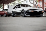 This sweet example of an AE86 with classic colour combination takes the cake.