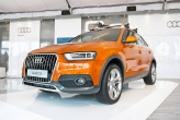 The star of the event is of course the new SUV, which looks every bit an Audi. Sporting Audi's signature LED wedge-shaped headlights and a handsome mini-Q5 look, the soft-roader oozes quality inside and out.