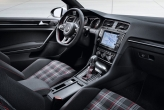 GTI insignia in the interior. The very first GTI had this feature: seat covers in legendary tartan pattern. The sixth generation Golf GTI used