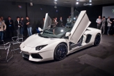 Top-of-the-line Lamborghinis have always and will remain to be roadsters, and thus will not have a folding soft top like its smaller sibling the Gallardo Spyder.  The two-piece roof is made entirely from carbon fiber using various technologies such as RTM and Forged Composite®. These technologies guarantee maximum aesthetic performance and stiffness although each component is extremely light, weighing less than 6 kg.