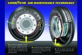 Tire-related costs are the single largest maintenance item for commercial vehicle fleet operators with more than 50 percent of all truck and trailer breakdowns involving a tire in some way. Goodyear's Air Maintenance Technology mechanism allows tires to maintain constant, optimum pressure without the use of external pumps, electronics and driver intervention. Proper tire inflation can result in improved fuel economy, prolonged tread life and optimized tire performance.