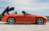 There is now an optional BMW Individual hardtop  available in the two contrast colours Black non-metallic and Titanium Silver metallic. The hardtop can be opened at the touch of a button while the car is moving at up to 40 km/h, open-top motoring is experienced in 19 seconds. 