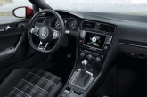 Inside, some distinctive GTD characteristics hark back to the first VW Golf GTD in 1982, sport seats in tartan pattern in grey, a black roofliner, sport steering wheel and stainless steel pedals. GTD emblems are littered on the gear shift grip, trim strips and instrument cluster too.