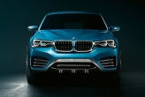 The X4 shares its basic styling direction with the X6 – narrow glasshouse, bluff front end, high shoulder line, huge wheelarches and distinctive swage lines keep it distinct from the X3. Overall length and wheelbase are identical, but height and width go down and up 53 mm and 34 mm respectively.